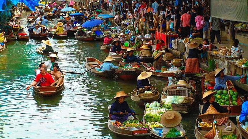Плавучий рынок Таиланд