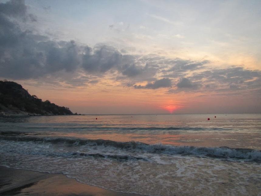 Закат в Хуахине Таиланд