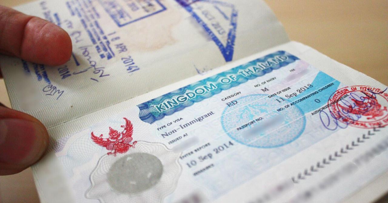 Так выглядит виза в Таиланд