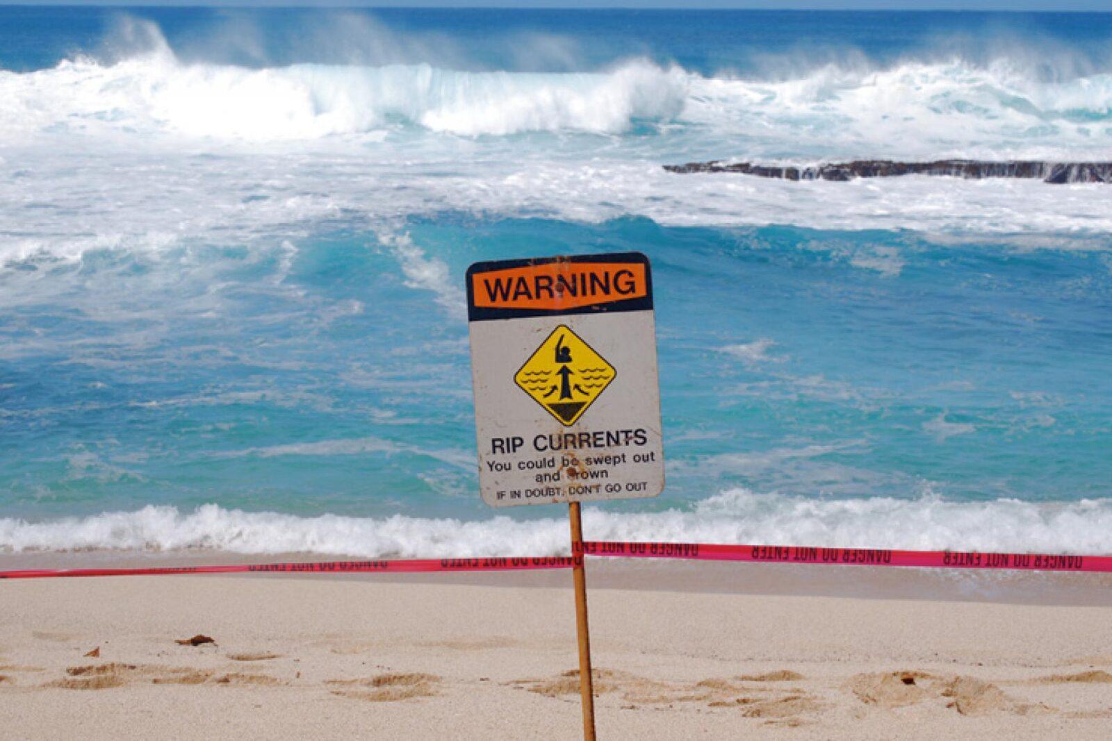 Туристам нужно опасаться подводных течений