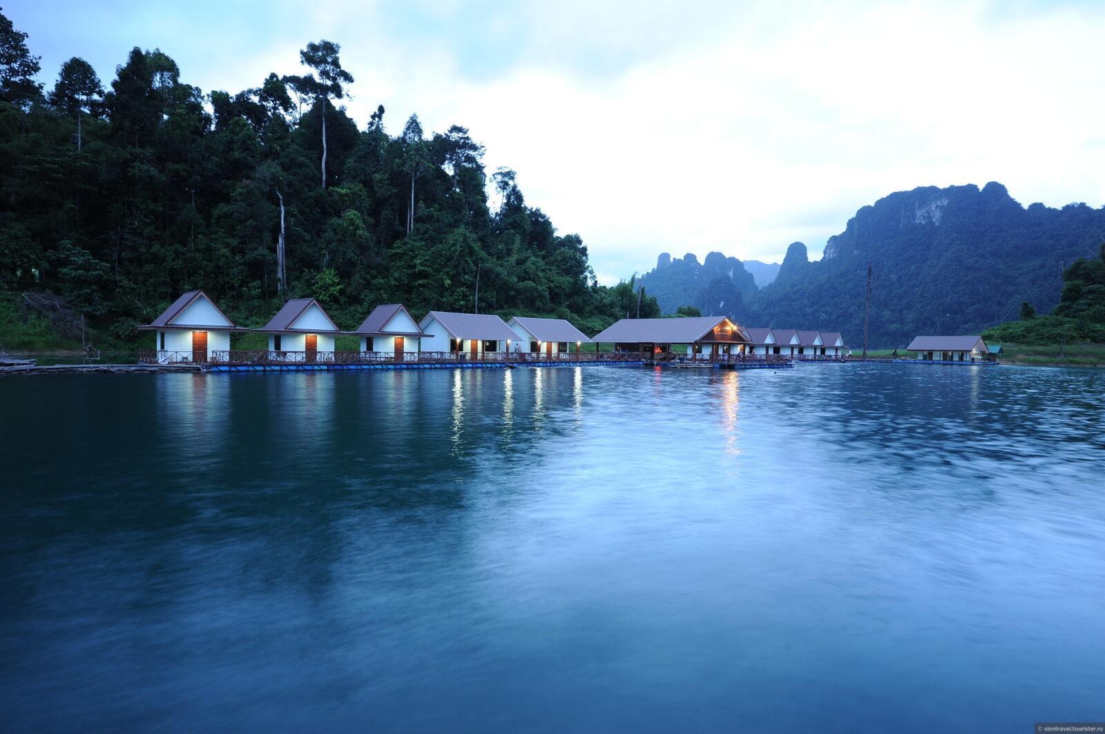 Фото жилья на озере Чео Лан