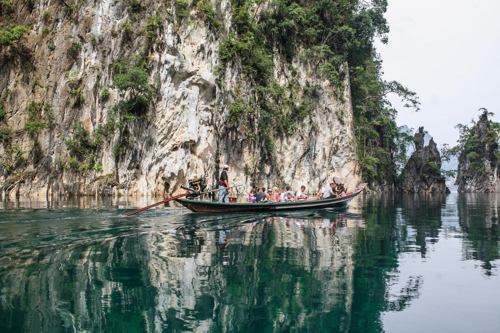 Фото туристов на озере Чео Лан