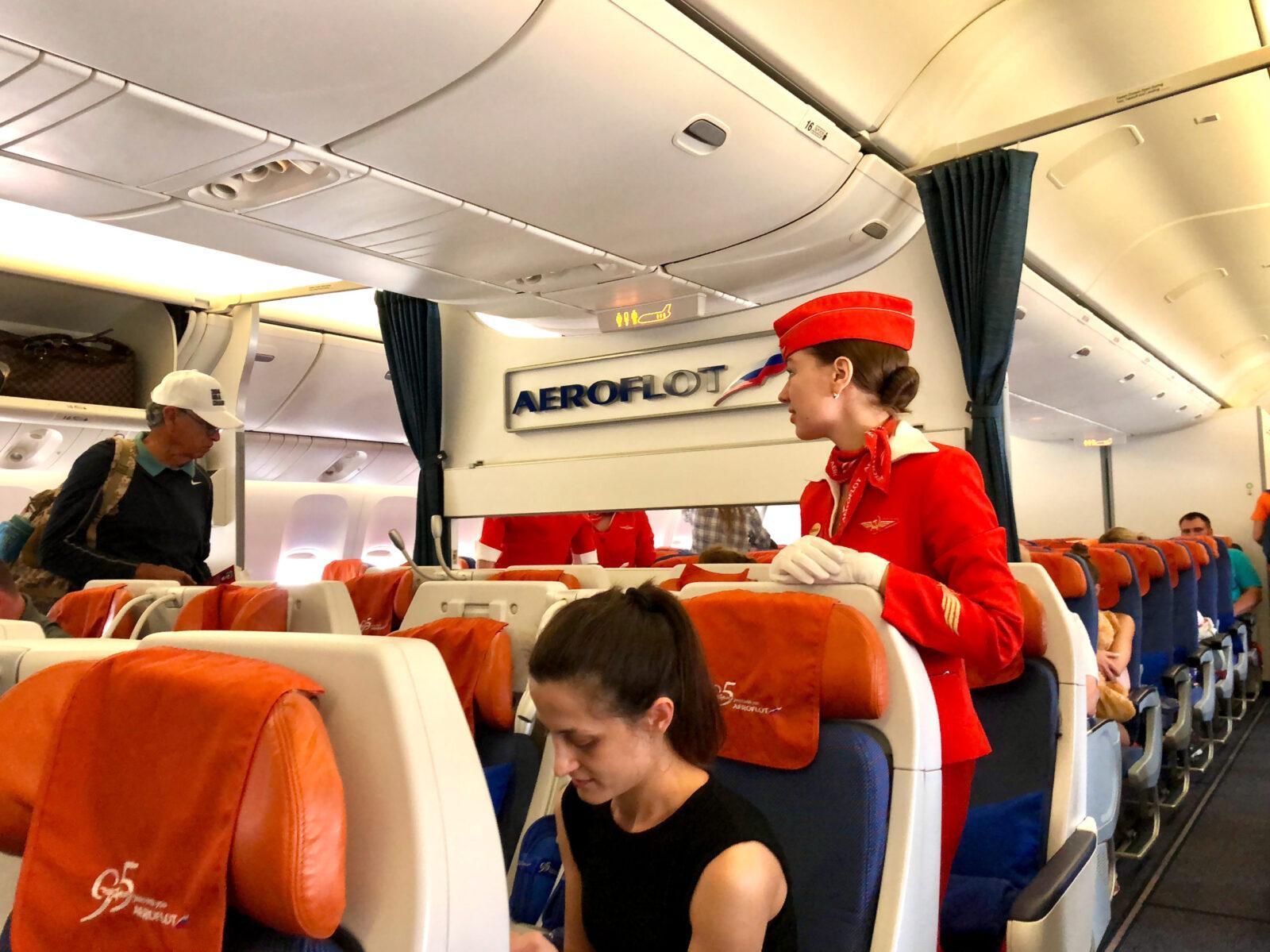 Фото салона самолета